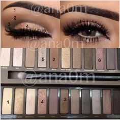 ▪Primer Urban Decay ▪Eyeshadow Urban Decay Naked 2 ▪Maybelline brown gel eyeliner Valérie Mousseau - Makeup Tips Eye Makeup Tips, Makeup Goals, Love Makeup, Skin Makeup, Makeup Eyeshadow, Blue Eyeshadow, Makeup Ideas, Eyeshadow Palette, Maybelline Eyeshadow