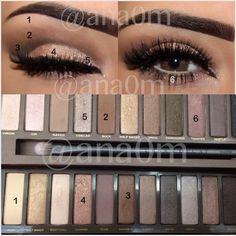 ▪Primer Urban Decay ▪Eyeshadow Urban Decay Naked 1& 2 ▪Maybelline brown gel eyeliner
