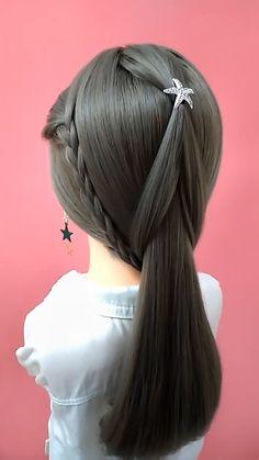 Bun Hairstyles For Long Hair, Work Hairstyles, Braids For Short Hair, Braided Hairstyles, Hair Up Styles, Medium Hair Styles, Hair Style Vedio, Bridal Hair Tutorial, Hair Videos