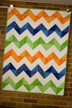 zig zag quilt for baby WITHOUT row of white in between