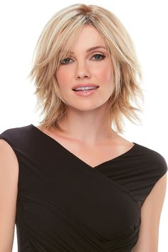 Find the Top Form Hair Addition (Renau Exclusive Colors) by Jon Renau. Designed to add gorgeous volume at the crown, this remy human hair topper Choppy Bob Hairstyles, Short Layered Haircuts, Straight Hairstyles, Choppy Hair, Curly Haircuts, Best Ombre Hair, Brown Ombre Hair, Blonde Ombre, Blonde Hair Topper