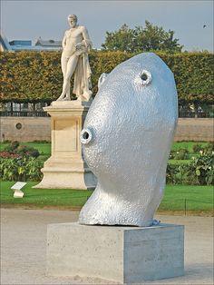 Douze sculptures énigmatiques d'Ugo Rondinone, représentant chacune un mois de…