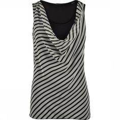 EspritT-Shirt 034Eo1K014 - Noir/Blanc