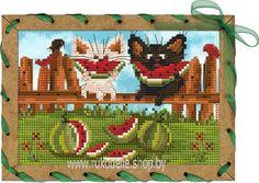 Набор для вышивания нитками Новая Слобода Арбузное счастье ОР7550