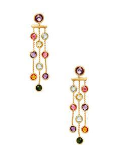 Jaipur Multi-Gemstone Chandelier Drop Earrings from Marco Bicego on Gilt