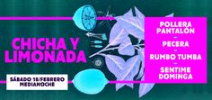 """Sentime Dominga en el Ciclo """"Chicha & Limonada""""   Parador Konex temporada 2017 ofrece una nueva experiencia musical para refrescar el verano. El sábado 18 de febrero a la medianoche Ciudad Cultural Konex temporada 2017 ofrece una nueva experiencia musical para refrescar el verano. El sábado 18 de febrero a la medianoche CC Konex presentará la segunda edición de Chicha & Limonada de la mano de PECERA POLLERA PANTALÓN RUMBO TUMBA y SENTIME DOMINGA. Las bandas que escuchas se juntan para…"""