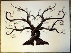 Two trees, life tattoos, family tree tattoos, body art tattoos, tatoos Nature Tattoos, Life Tattoos, Body Art Tattoos, Tatoos, Tattoo Kind, Tatoo Tree, Family Tree Art, Family Tree Paintings, Family Tree Drawing
