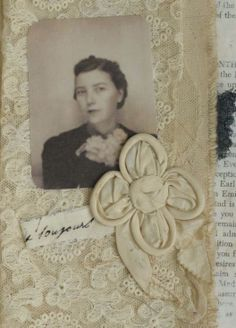 Mixed Media Fabric Collage Book of Angels of Photobooth Ladies | eBay