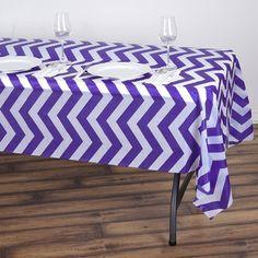 x Royal Blue Disposable Chevron Plastic Vinyl Rectangular Tablecloth Chevron Tablecloth, Vinyl Tablecloth, Plastic Tablecloth, Tablecloths, Vinyl Table Covers, Plastic Table Covers, Plastic Tables, Waterproof Tablecloth, Purple Chevron