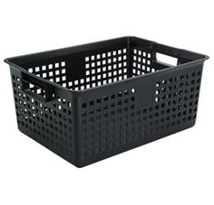 Iris Plastic Mesh Storage Basket - Black  sc 1 st  Pinterest & Plastic storage container with wheels ~ fill with sand and you have ...