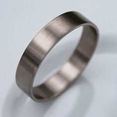 Narrow and Slim 14k Palladium White Gold Men's Wedding Band - Brushed or Shiny finish - Modern Wedding Ring on Etsy, $405.00