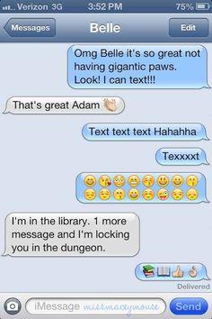 Texts between Disney princesses and princess. :)