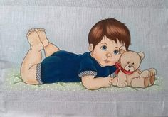 Patch, Winnie The Pooh, Disney Characters, Fictional Characters, Baby Boy, Kids Coloring, Baby Painting, Painting On Fabric, Napkins
