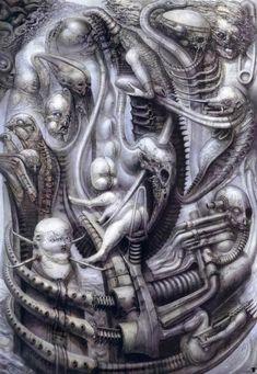 Гигер Ганс Рудольф картины. Швейцарский художник