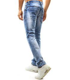 Pánske modré džínsové nohavice Jeans, Fashion, Moda, Fasion, Jeans Pants, Blue Jeans, Denim