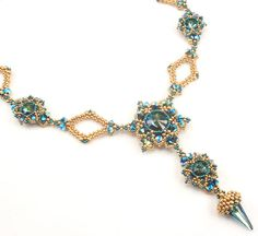 Beading Tutorial for Zealous Spire Necklace beadweaving