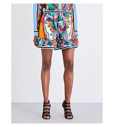 6acfc8f903c4 EMILIO PUCCI Palm Leaf-Print Silk-Twill Shorts.  emiliopucci  cloth  pants