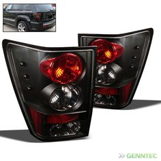 For 05 06 Jeep Grand Cherokee Black Altezza Tail Lights Rear Brake Lamp Pair