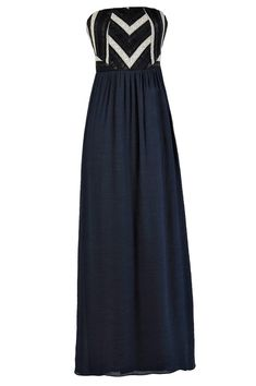 To The Max Crochet Lace Maxi Dress in Navy