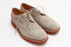 STONE SUEDE LONGWING BROGUE $385.00