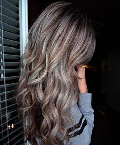 Light Chocolate Brown Hair with Silver Highlights. Light Chocolate Brown Hair with Silver Highlights. Brown Hair With Silver Highlights, Brown Hair Balayage, Brown Blonde Hair, Blonde Highlights, Ombre Hair, Color Highlights, Blonde Balayage, Chunky Highlights, Caramel Highlights