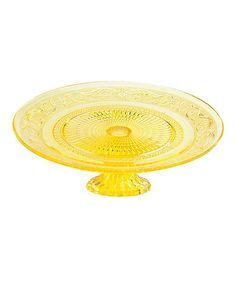 Bridal Shower ~ Yellow 10 Footed Plate ~  by Godinger ~ Sale $10.99
