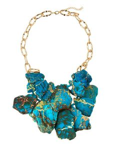 Panacea Layered Statement Necklace, Turquoise
