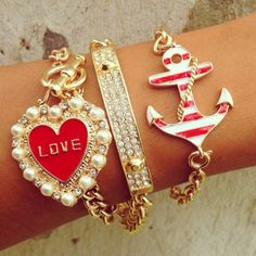 A little to bulky for me..but still cute..... only if the heart and anchor were smaller.