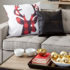 Mad for plaid? Then you'll love this reindeer pillow!