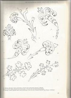 Wood Burning Patterns, Wood Burning Art, Art Nouveau Illustration, Botanical Illustration, Pattern Drawing, Pattern Art, Islamic Art Pattern, Persian Pattern, Drawing Sketches