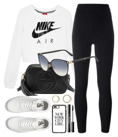 Sporty by smartbuyglasses on Polyvore featuring polyvore, moda, style, NIKE, adidas Originals, Vans, Gucci, Jimmy Choo, Casetify, fashion, clothing, white, black and sporty