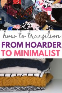 5 tips to transition from hoarder to a minimalist lifestyle. How to change your mindset, get your life organized and keep things neat! Household Organization, Home Organization Hacks, Organizing Ideas, Minimalist Living Tips, Minimalist Lifestyle, Help For Hoarders, Hoarder Help, Garage Sale Tips, Clutter Solutions