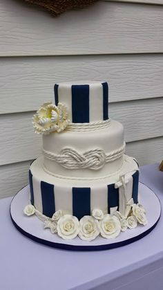Tickled Pink Cakes: Nautical Wedding Cake