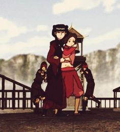 """"""" i'll keep you sheltered from the storm that's raging on """" atla mai x ty lee mailee Avatar Show, The Last Avatar, Avatar The Last Airbender Art, Avatar Kyoshi, Avatar Picture, Ty Lee, Avatar Funny, Korrasami, Fire Nation"""