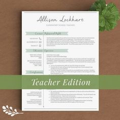 Teacher Resume Template for Word 1 2 and 3 by TheTemplateStudio ---CLICK IMAGE FOR MORE--- resume how to write a resume resume tips resume examples for student Cover Letter Template, Cv Template, Resume Templates, Cover Letters, Templates Free, Teaching Resume, Resume Writing, Resume Tips, Resume Examples