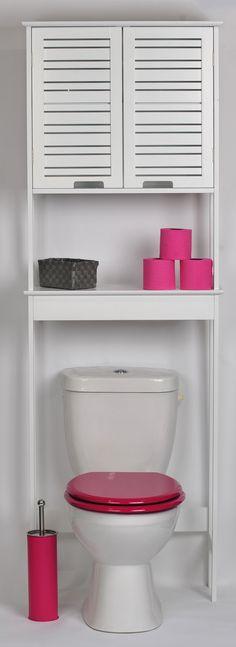 Un meuble dessus wc avec une touche exotique pour vos for Meuble haut pour wc