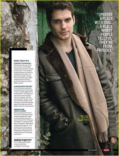 ♂ Masculine and elegance man with scarf Henry Cavill