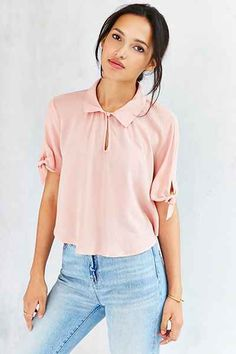 Cooperative Tie-Sleeve Caitie Blouse - Urban Outfitters http://becauseicare.biz/819/
