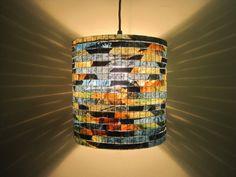 Lighting Hanging Chandelier Lighting Handmade Chandelier Lighting Ceiling Light Lampada Coffee Filter Art - SALE 10% Off