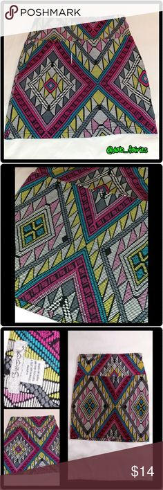 Sexy bright tribal mini skirt Sexy bright tribal mini skirt. Size small. Super funky & sexy. DM for more details, offers and bundles. Thank you for looking and don't forget to check out the rest of our closet. XOXO Veronica #sexy #mini #tribal #brightcolors #small #bundleandsave #iloveoffers Skirts Mini