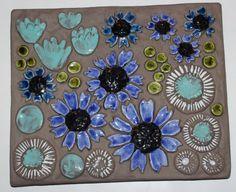 Fantastic retro vintage ceramic Wall Plaque by ThreeCrownsRetro Wall Plaques, Vintage Ceramic, Colorful Flowers, Scandinavian, Retro Vintage, Pottery, Ceramics, Tableware, Creative