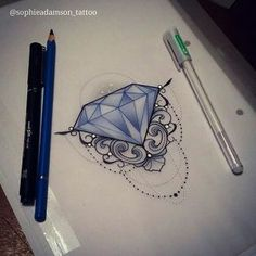 Diamond anyone? See me at The Projects Tattoo to snap it up or email me sophie.adamson@hotmail.co.uk A deposit reserves it  Waiting on an email? Ill get to them by tomorrow eve  #tattoo #design #diamond #tattooartist #art #drawing #ink...