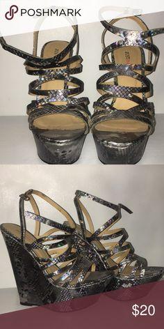 Wedges Snakeskin pattern JustFab Shoes Wedges