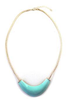 Simple Style Cyan Tube Necklace [FTBJ00239]- US$ 2.99 - PersunMall.com