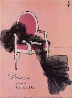 Dior. Illustration by René Gruau.