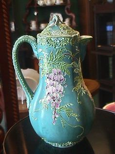 Image detail for -Nippon Moriage Chocolate Pot - Wisteria from crossroadsantiques on ...