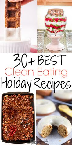 All the same delicious tastes of Christmas -gingerbread, eggnog, apple cider, etc- with whole food ingredients. Clean eating holiday recipes do exist! Healthy Donuts, Healthy Cookie Recipes, Healthy Cookies, Healthy Baking, Whole Food Recipes, Paleo Recipes, Clean Dinner Recipes, Clean Eating Dinner, Slow Cooker Balsamic Chicken