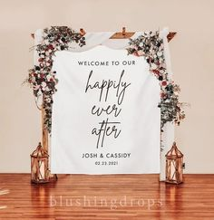 Happily Ever After Sign, Arch Backdrop, Wedding Backdrop for Ceremony, Wedding Decorations, Wedding Banner Backdrop, Wedding Welcome Banner Memories may fade but photographs last forever. Big, bold and beautiful, our customized backdrops elegantly and affordably set the scene for photography. Bridal Shower Backdrop, Wedding Ceremony Backdrop, Bridal Shower Decorations, Wedding Decorations, Reception, Banner Backdrop, Backdrop Stand, Wedding Favors, Wedding Gifts