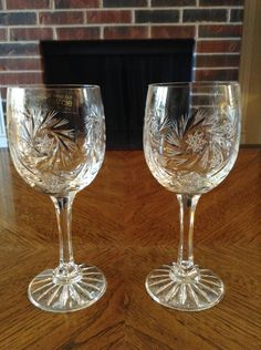 A personal favorite from my Etsy shop https://www.etsy.com/listing/252663114/vintage-zawiercie-crystal-wineglasses-24