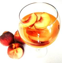 Peach Sangria.  Waaaay better than Olive Garden.  And much cheaper too.  Only four ingredients needed!